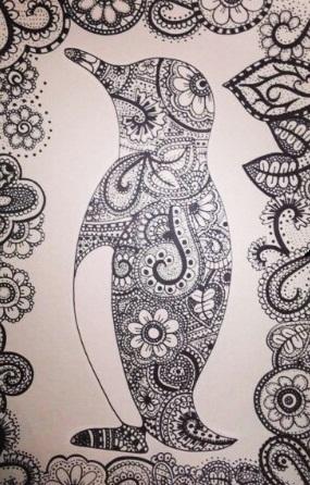 Creative Penguin Picture Tattoo