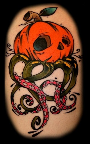 Creative Pumpkin Tattoo Design