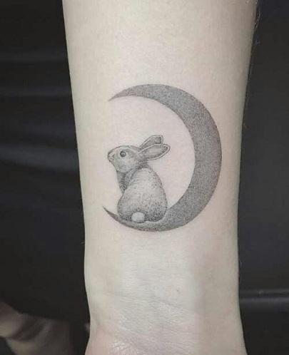 Creative Rabbit Tattoo Design