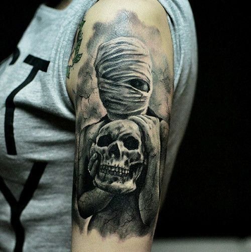 Creepy Mummy Tattoo Design