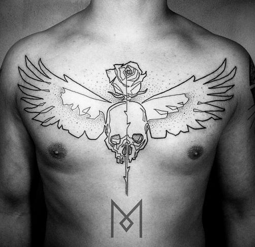 Daring Minimalist Tattoo Design - Minimalist Tattoos