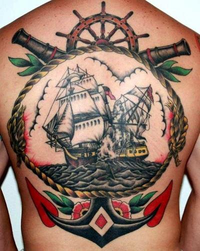 Descriptive Royal Navy Tattoo Design