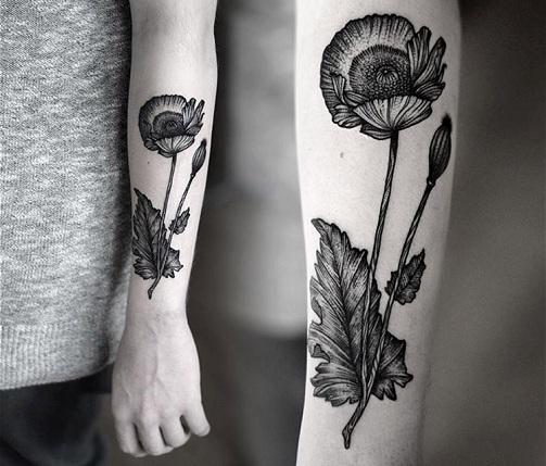 Dot Flower Tattoo