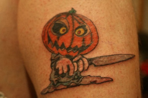 Evil Pumpkin Tattoo Design
