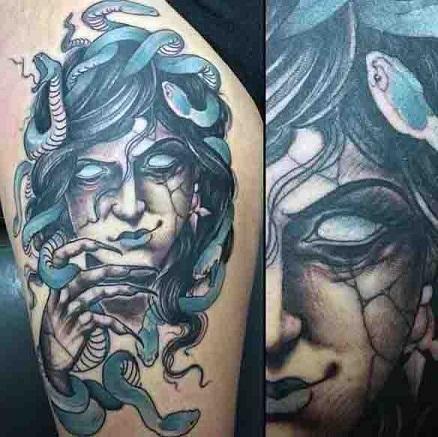 Evil type Medusa Tattoo Designs