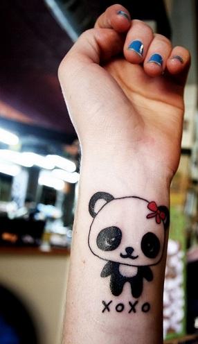 Female Panda Tattoo