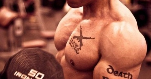 Fitness Motivational Tattoo Design