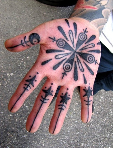 palm tattoo designs