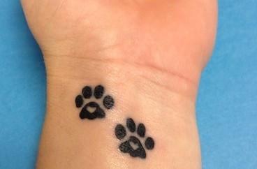 paw print tattoo designs