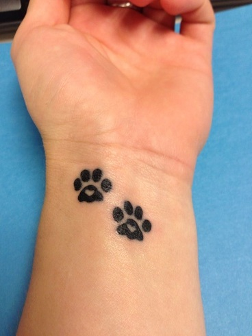 paw print tattoo designs