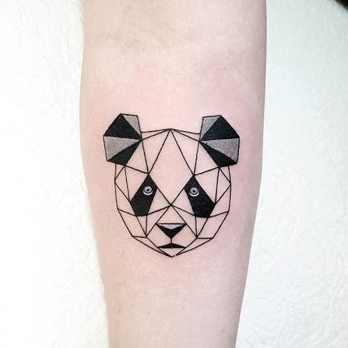 Geometric Design Panda Tattoo