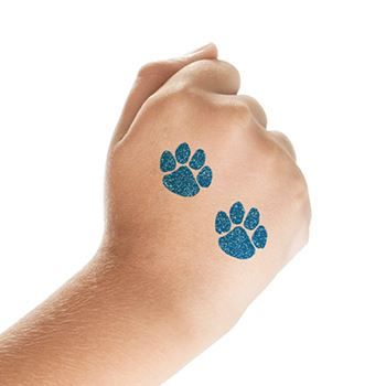 Glitter Paw Print Tattoo Designs