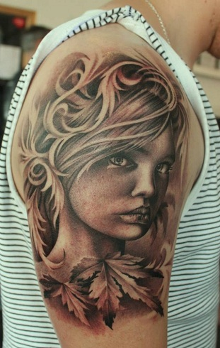 Half Sleeve Portrait Tattoo