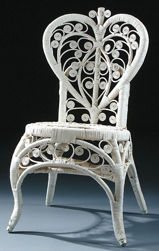 Heart Back Cane Chair