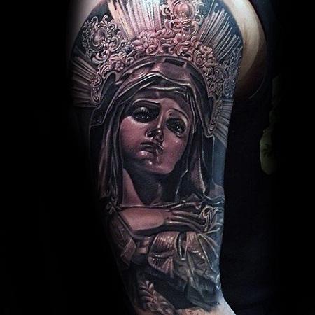 Heavy Design Mary Tattoos