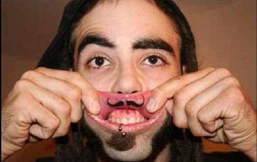 Hilarious Mouth Tattoo Design
