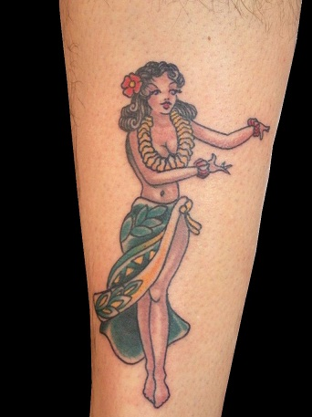 Hula girl sailor tattoos