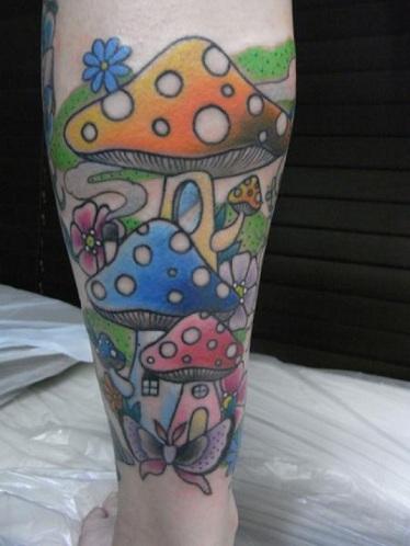 Impressive Mushroom Tattoo Design