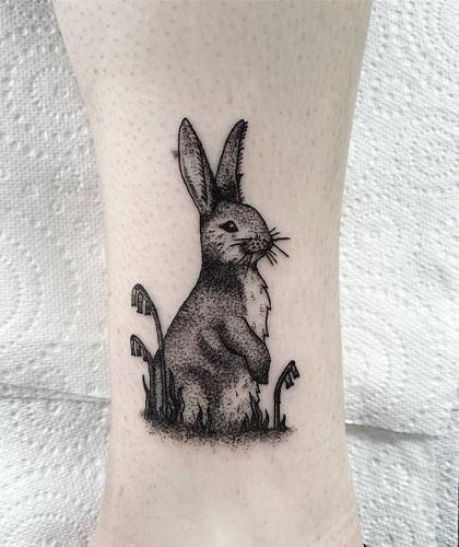 Impressive Rabbit Tattoo Design