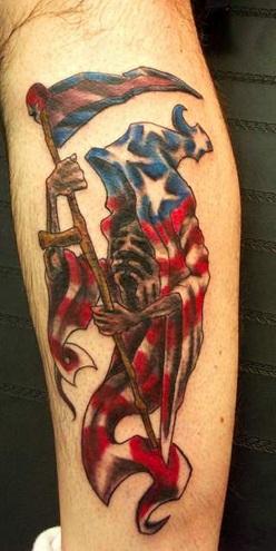 Impressive Reaper Tattoo Design