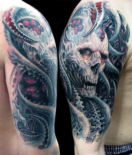 Incredible Monster Tattoo Design