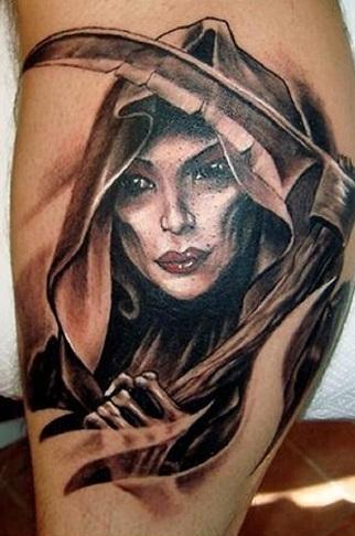 Interesting Reaper Tattoo Design