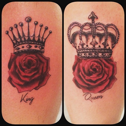 15 Stylish King And Queen Tattoos for Couples | Styles At Life