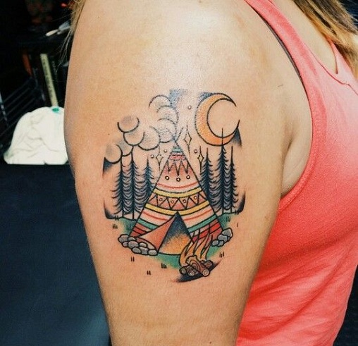 Natural Native American Tattoos Design