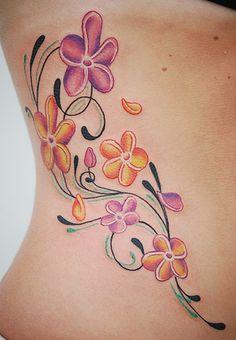 Lovely bell Plumeria Tattoo