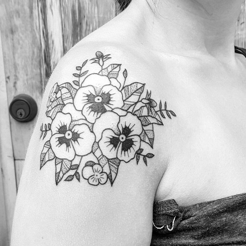 pansy tattoo