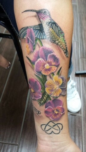 pansy tattoo designs