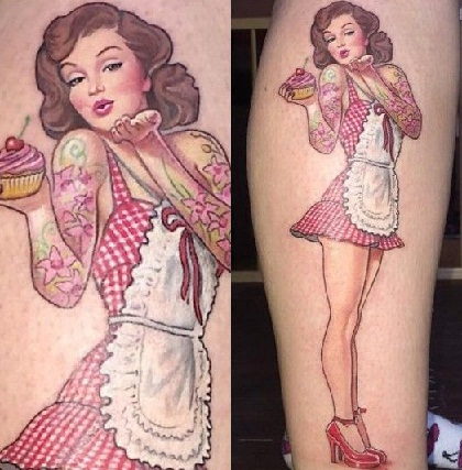 Pastry Maker Look Pin Up tattoo