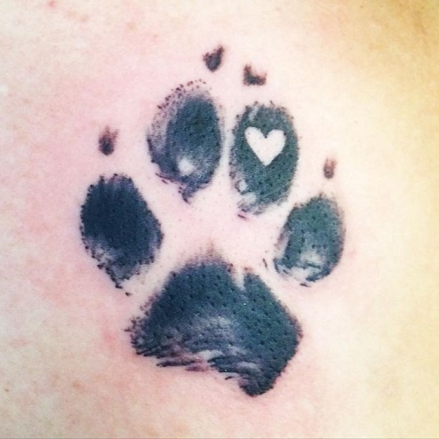 Paw Heart Tattoo Designs