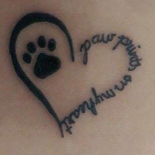 15 coolest unusual paw print tattoo designs. Black Bedroom Furniture Sets. Home Design Ideas
