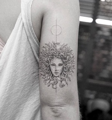 Medusa Rounded Tattoo Designs