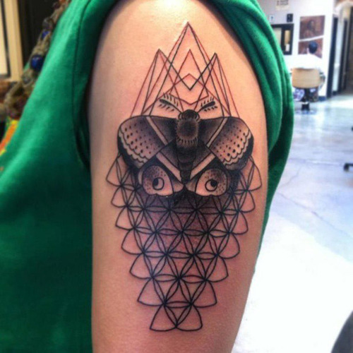 sacred geometric half sleeve tattoo