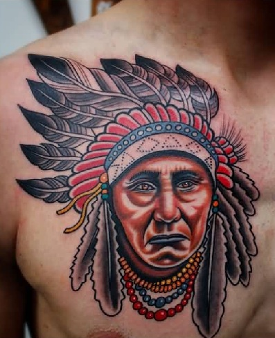9 best native american tattoos with images styles at life. Black Bedroom Furniture Sets. Home Design Ideas