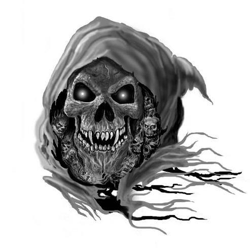 Scary Grim Reaper Tattoo Design