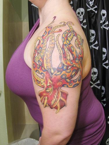 Sea Monster Tattoo Design