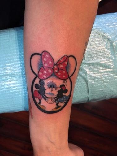 Sensational Mickey and Minnie Tattoo Design