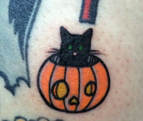Sensational Pumpkin Tattoo Design
