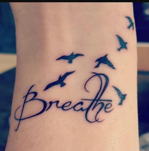 Simple Motivational Tattoos Design