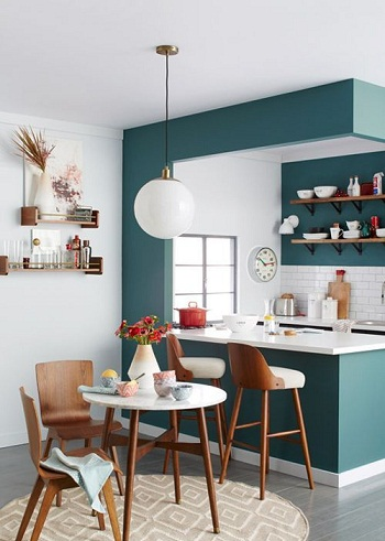 Small flats open kitchen Design