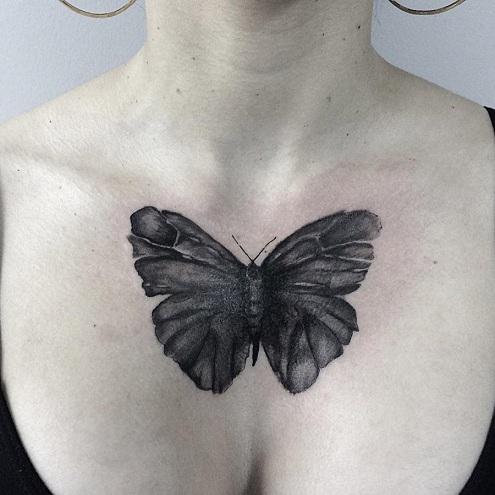 Spectacular Moth Tattoo Design