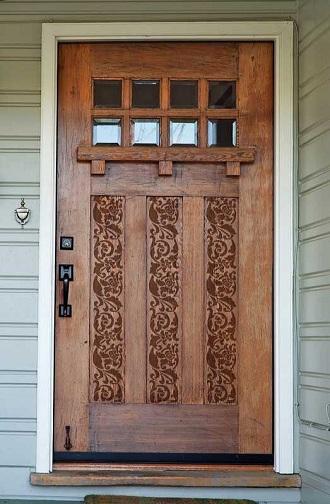 9 Best & Modern Hall Door Designs - Stencil Pattern Front Door Design