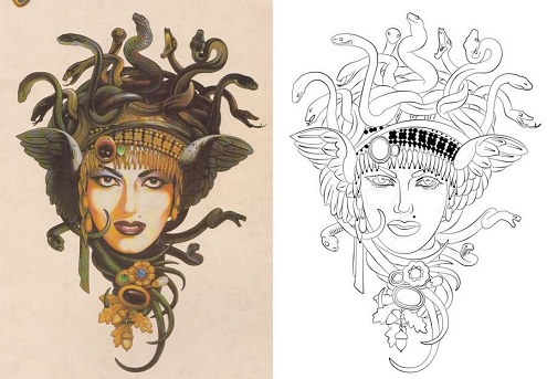 Stunning Medusa Tattoo Designs