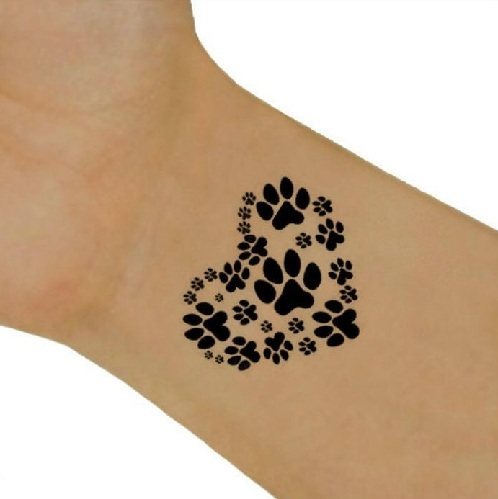 15 coolest unusual paw print tattoo designs