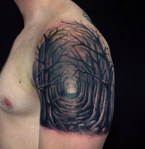Terrific Nature Tattoo Design