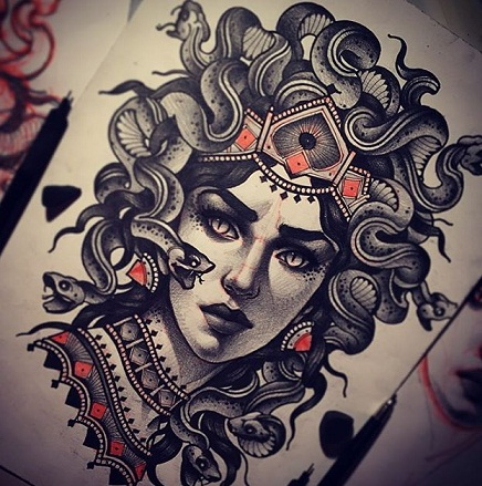Traditional Picture of Medusa