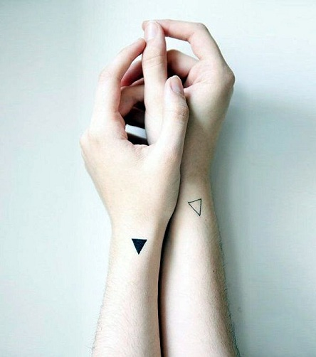 Triangular Geometric Tattoo